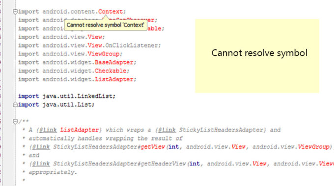 Solved – Cannot Resolve Symbol Android Studio