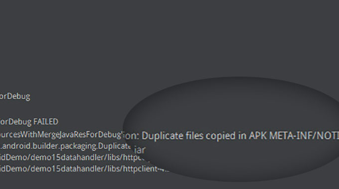Solved – DuplicateFileException: Duplicate Files Copied In APK META-INF/..