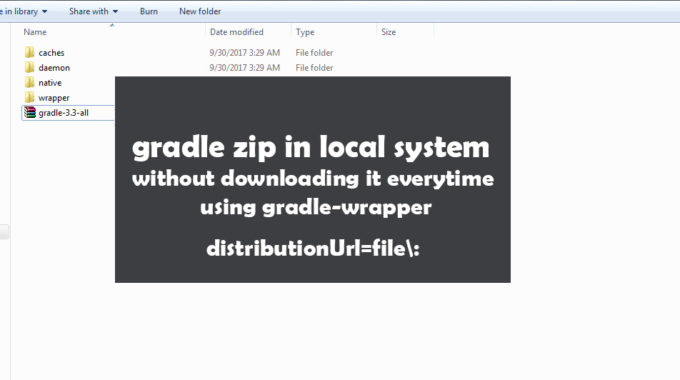 Use Gradle Zip In Local System Without Downloading It Everytime Using Gradle-wrapper