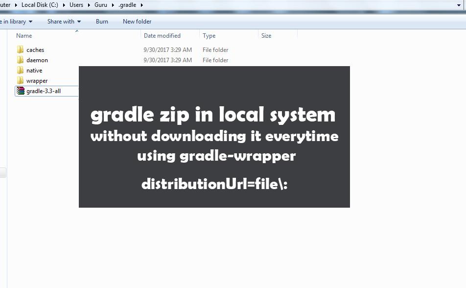 Gradle-Zip-Local-System-Gradle-Wrapper-Distribution-Url