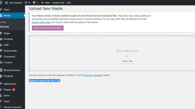 How To Increase Max File Size Upload Limit – WordPress